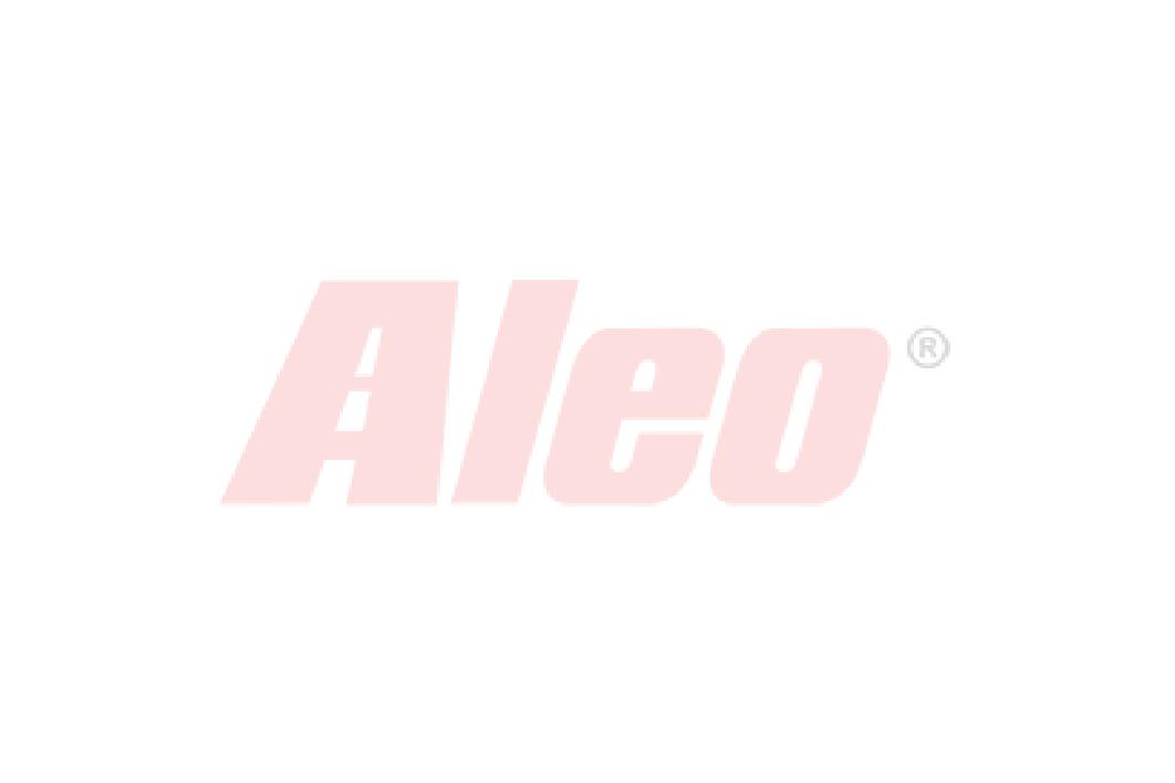 Bare transversale Thule Evo Raised Rail Profesional pentru KIA Joice 5 usi MPV, model 2000-2002, Sistem cu prindere pe bare longitudinale