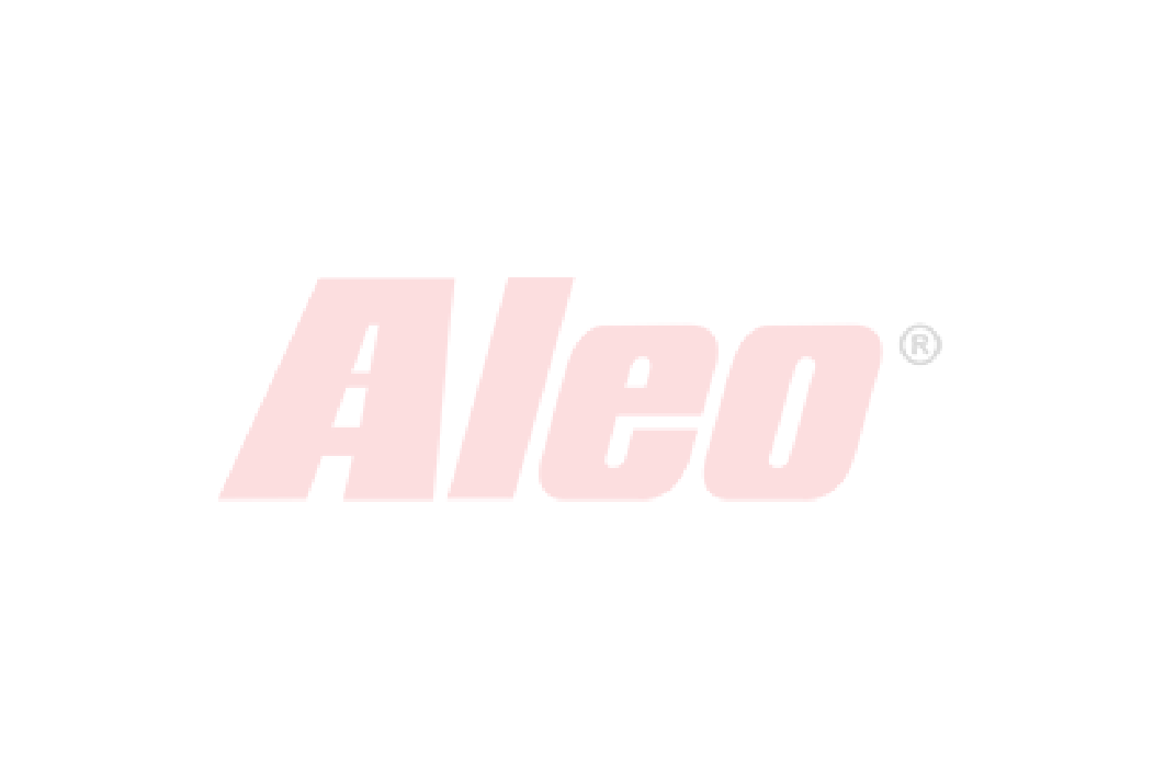 Bare transversale Thule Evo Raised Rail Profesional pentru VW Cross Fox 5 usi Hatchback, model 2010- (S. AMERICA), Sistem cu prindere pe bare longitudinale